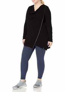 Marc New York Performance Women's Long Sleeve Thermal Asymmetric Tunic (Regular & Plus Sizes)