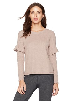 Marc New York Performance Women's Long Sleeve Thermal Ruffle Top  XL