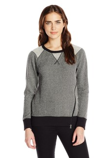 Marc New York Performance Women's Loopy Terry Sweatshirt with Zipper Detail