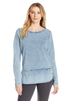 Marc New York Performance Women's L/s 2-fer Boatneck Pullover  M