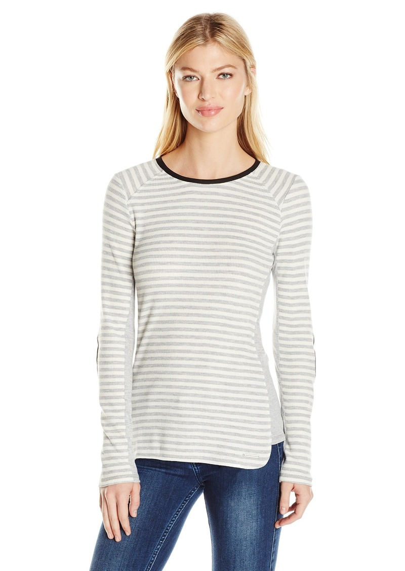 Marc New York Performance Womens L//s Scoop Neck W//Keyhole Detail