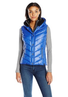 Marc New York Performance Women's Marc Ny Performance Systems Puffer Vest W/Sherpa Lined Hood  S