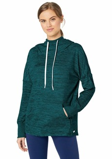 Marc New York Performance Women's Marled Sweater Knit Long Sleeve Hooded Tunic rain Forest