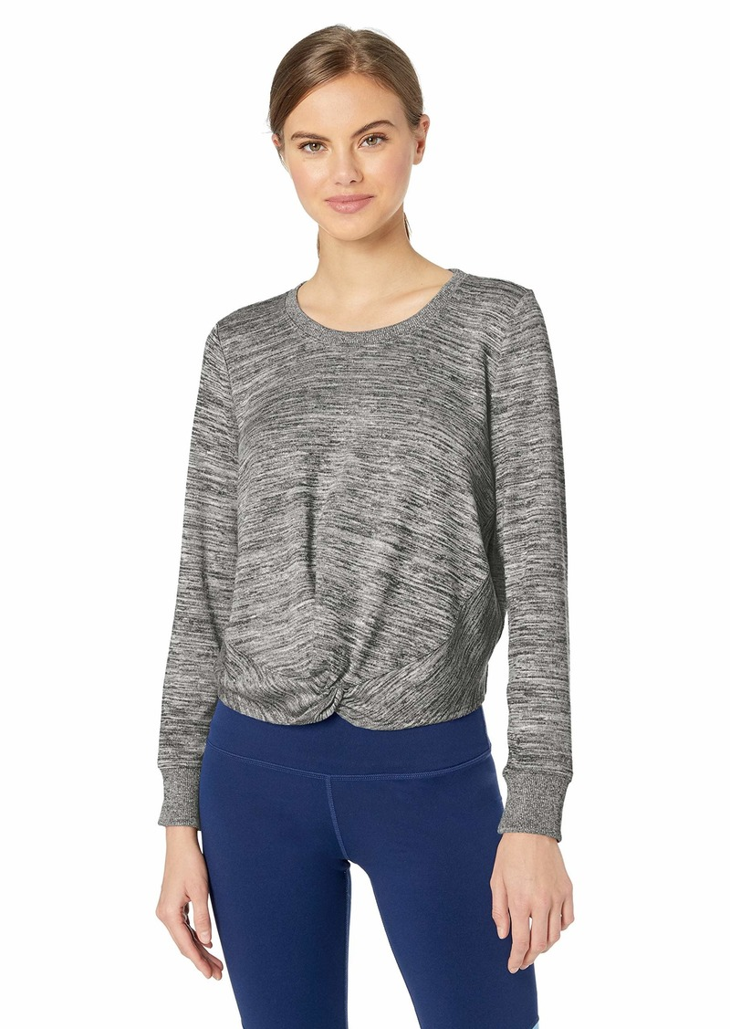 Marc New York Performance Women's Marled Sweater Knit Twist Front Top