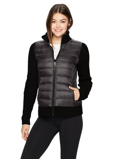 Marc New York Performance Women's Mixed Packable Sweater Jacket  XL