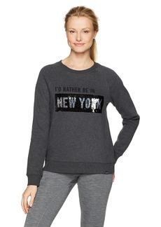 Marc New York Performance Women's Moving Sequin Crewneck Sweatshirt  XL