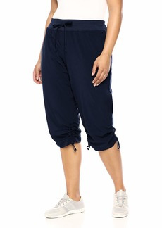 Marc New York Performance Women's Plus Size Commuter Active Adjustable Cinched Cropped Pant