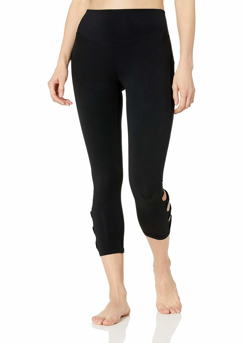 Marc New York Performance Women's Plus Size Crop Legging with Twisted Side Details