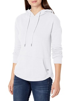 Marc New York Performance Women's Plus Size High-Low Hooded Pullover