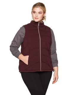 Marc New York Performance Women's Plus Size Knit Puffer Vest