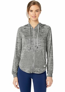 Marc New York Performance Women's Plus Size Marled Sweater Knit Zip Up