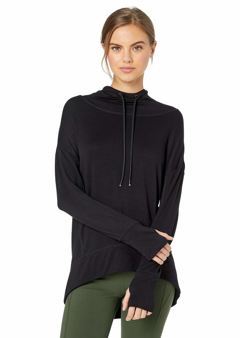 Marc New York Performance Women's Plus Size Peaceful Yoga Hi-Lo Hooded Tunic