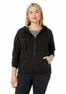 Marc New York Performance Women's Plus Size Puff Knit Zip Up Jacket