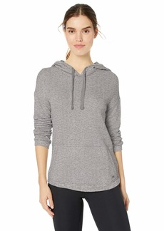 Marc New York Performance Women's Plus Size Sparkle Terry Hooded Pullover