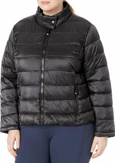 Marc New York Performance Women's Plus Size Super Soft Packable Jacket with Giant Zippers