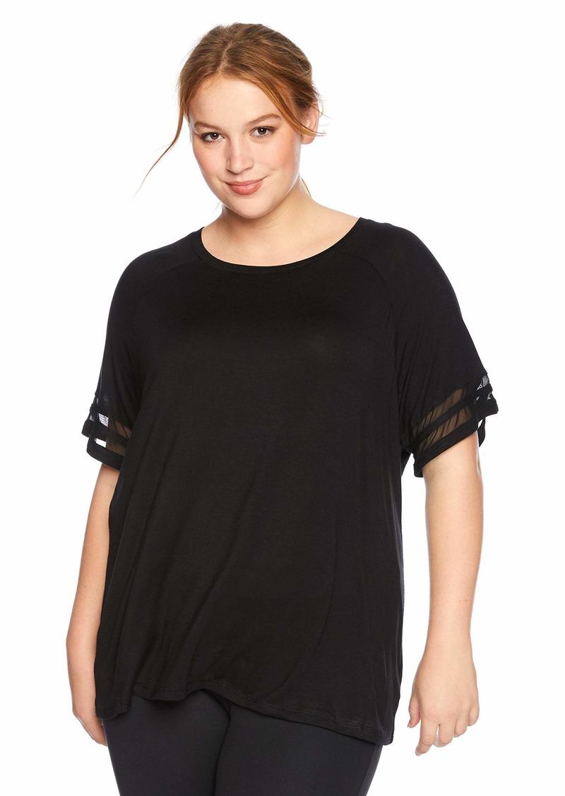 Marc New York Performance Women's Plus Size Varsity Tee Shirt