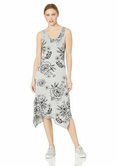 Marc New York Performance Women's Plus Size Printed Handkerchief Tank Midi Dress