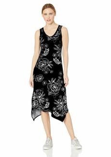 Marc New York Performance Women's Printed Handkerchief Tank Midi Dress