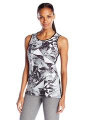 Marc New York Performance Women's Printed Mix Media Tank with Step Fractured/Black