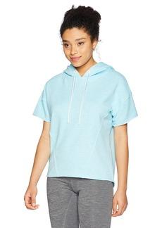Marc New York Performance Women's Short Sleeve Hooded Sweatshirt  L