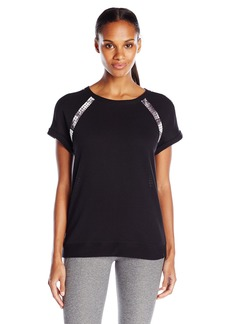 Marc New York Performance Women's Short Sleeve Pullover with Scuba Insets