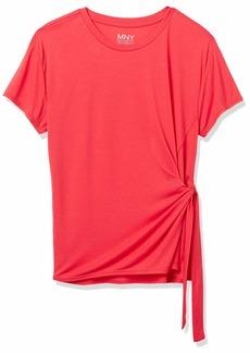 Marc New York Performance Women's Short Sleeve Tie Front Shirt