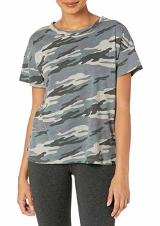 Marc New York Performance Women's Short Sleeve Vintage Printed Boxy Tee Shirt