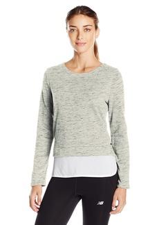 Marc New York Performance Women's Space Dye 2-Fer Sweatshirt