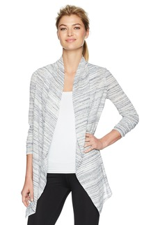 Marc New York Performance Women's Spacedye Rib Flyaway Cardigan  L