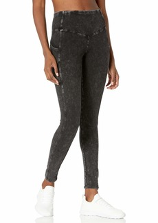 Marc New York Performance Women's Stone Wash High Waisted Legging with Pockets