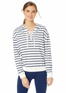 Marc New York Performance Women's Stripe French Terry Long Sleeve Pullover