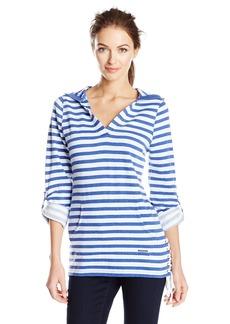 Marc New York Performance Women's Stripe Roll Sleeve Fleece Tunic  XL