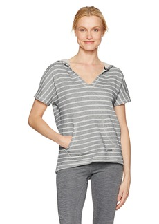 Marc New York Performance Women's Striped Hooded S/s Pullover  L