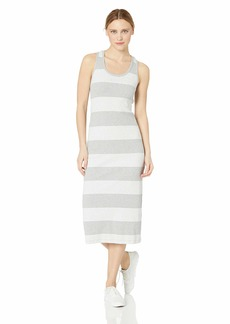 Marc New York Performance Women's Striped Rib Midi Tank Dress