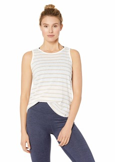 Marc New York Performance Women's Striped Washed Tank with Keyhole Back