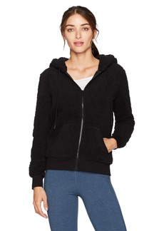Marc New York Performance Women's Teddy Fleece Full Zip Hooded Pullover  XS