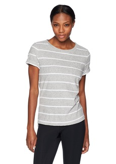 Marc New York Performance Women's Terry Cloth Striped Tee  Extra Large
