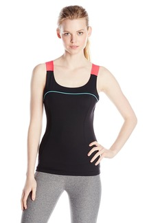 Marc New York Performance Women's Wide Elastic Compression Seamed Tank