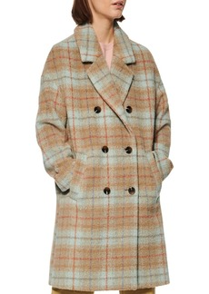 Marc New York Plaid Double-Breasted Coat