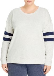 Marc New York Plus Striped Sleeve Sweatshirt