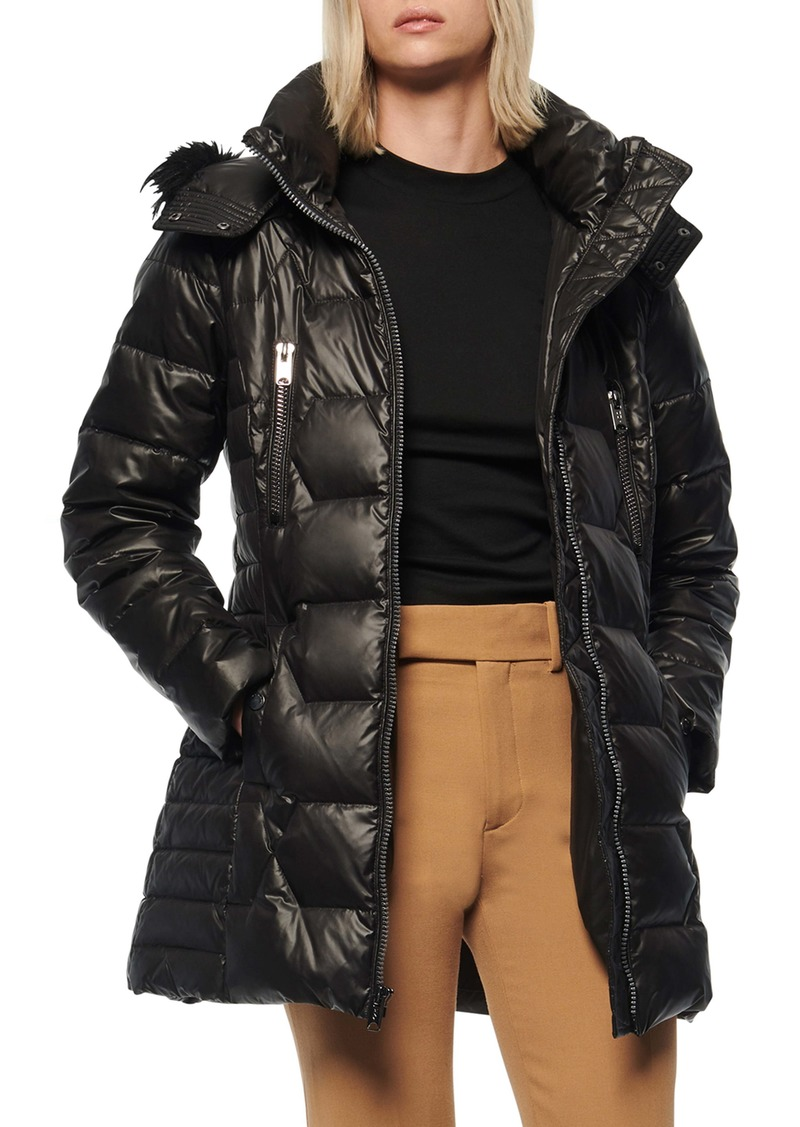 Marc New York Pomona Faux Fur Trim Down Puffer Jacket