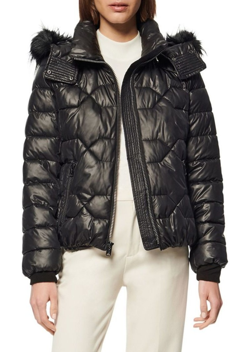 Marc New York Ponce Faux Fur Hooded Puffer Coat