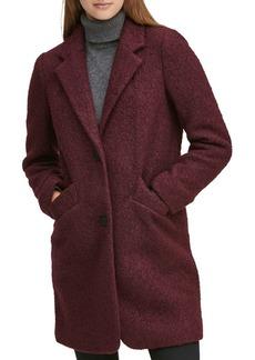 Marc New York Pressed Boucle Wool Coat