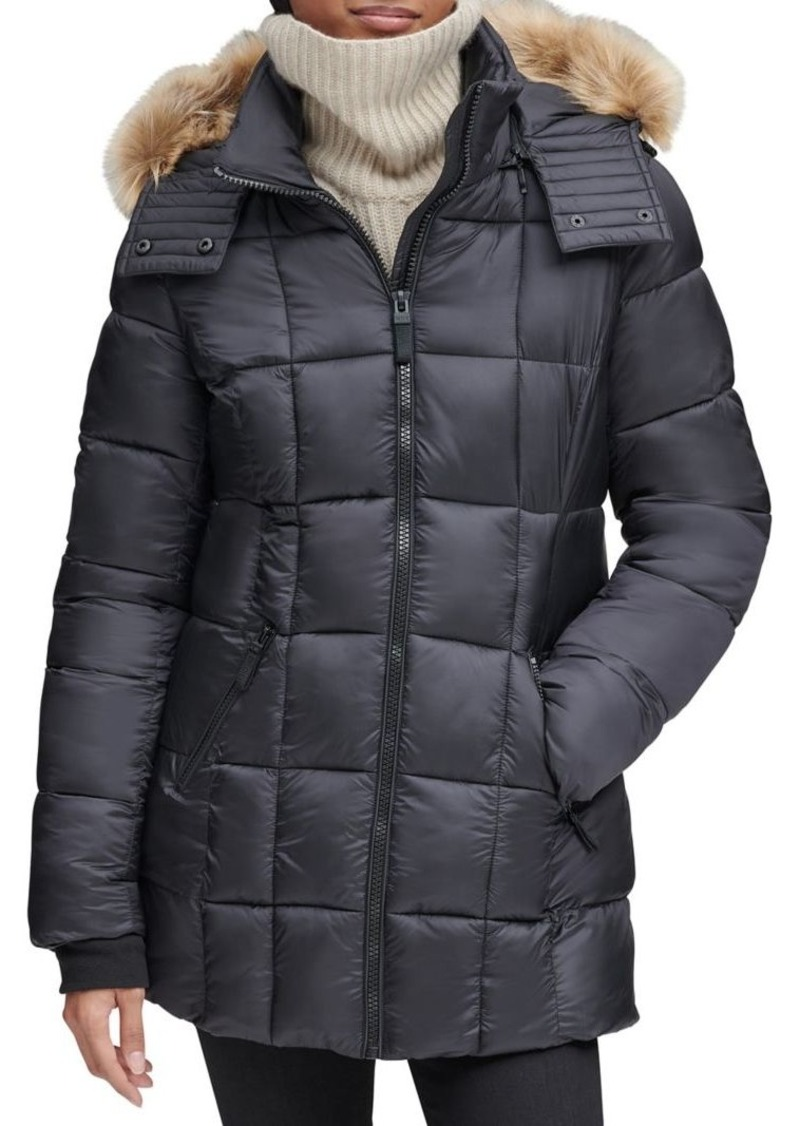 Marc New York Riverdale Faux Fur Hooded Quilted Puffer Coat