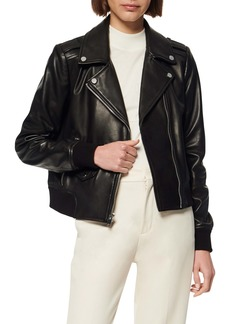 Marc New York Sandino Leather Bomber Jacket