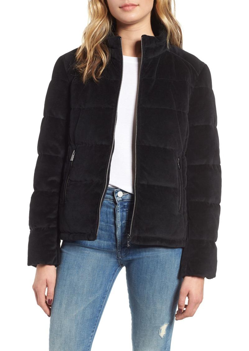 Marc New York Velvet Puffer Jacket