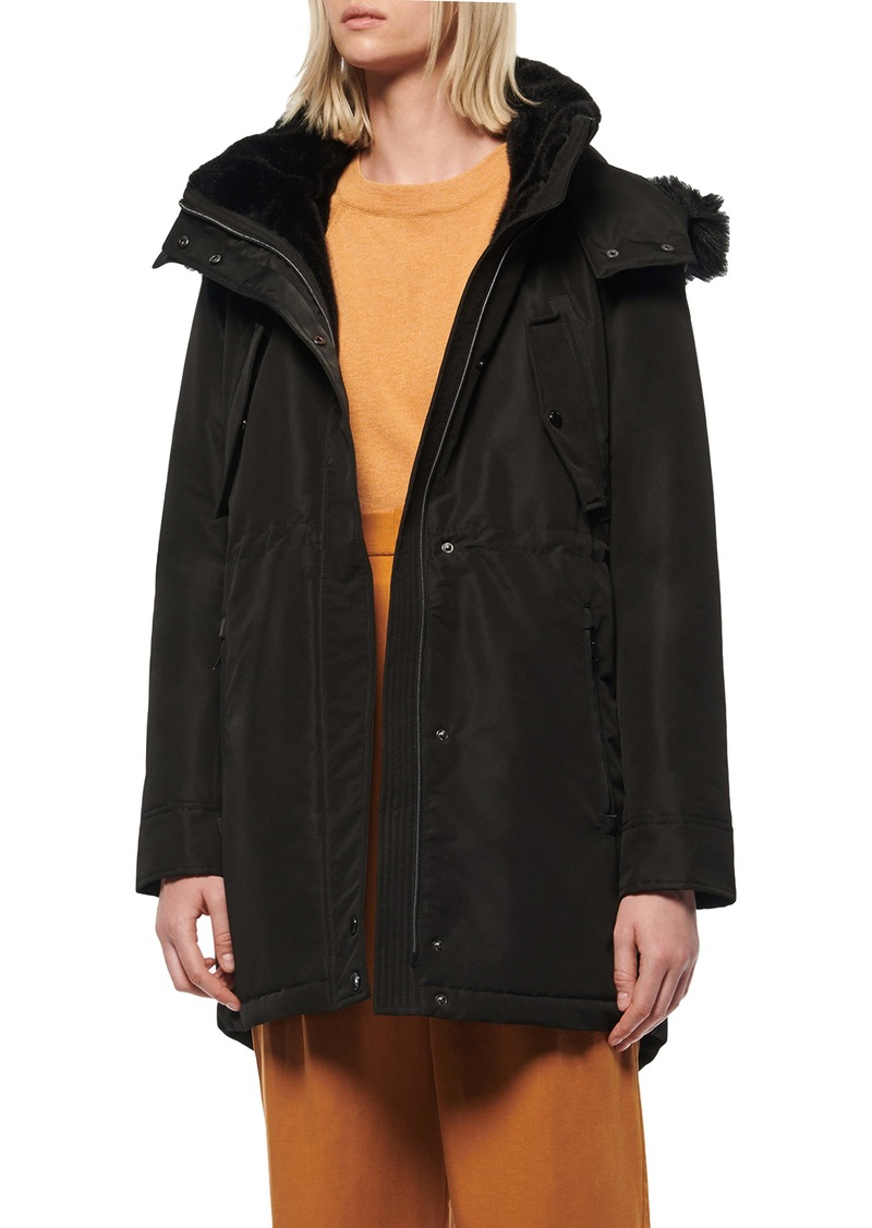 Marc New York Water Resistant Faux Fur Trim Parka