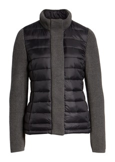 Marc New York Mark New York Packable Knit Trim Puffer Jacket