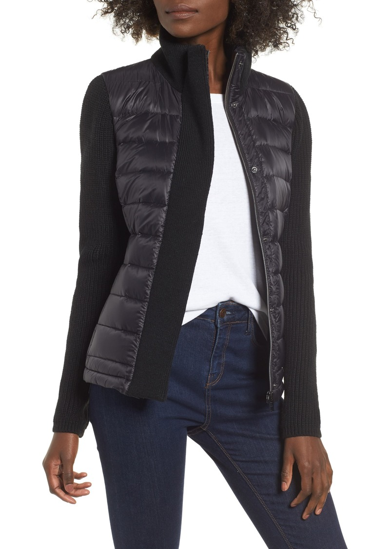 Marc New York Mark New York Packable Knit Trim Puffer Jacket