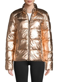 Marc New York Metallic Quilted Puffer Jacket